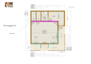 plan with buffere wall highlighted