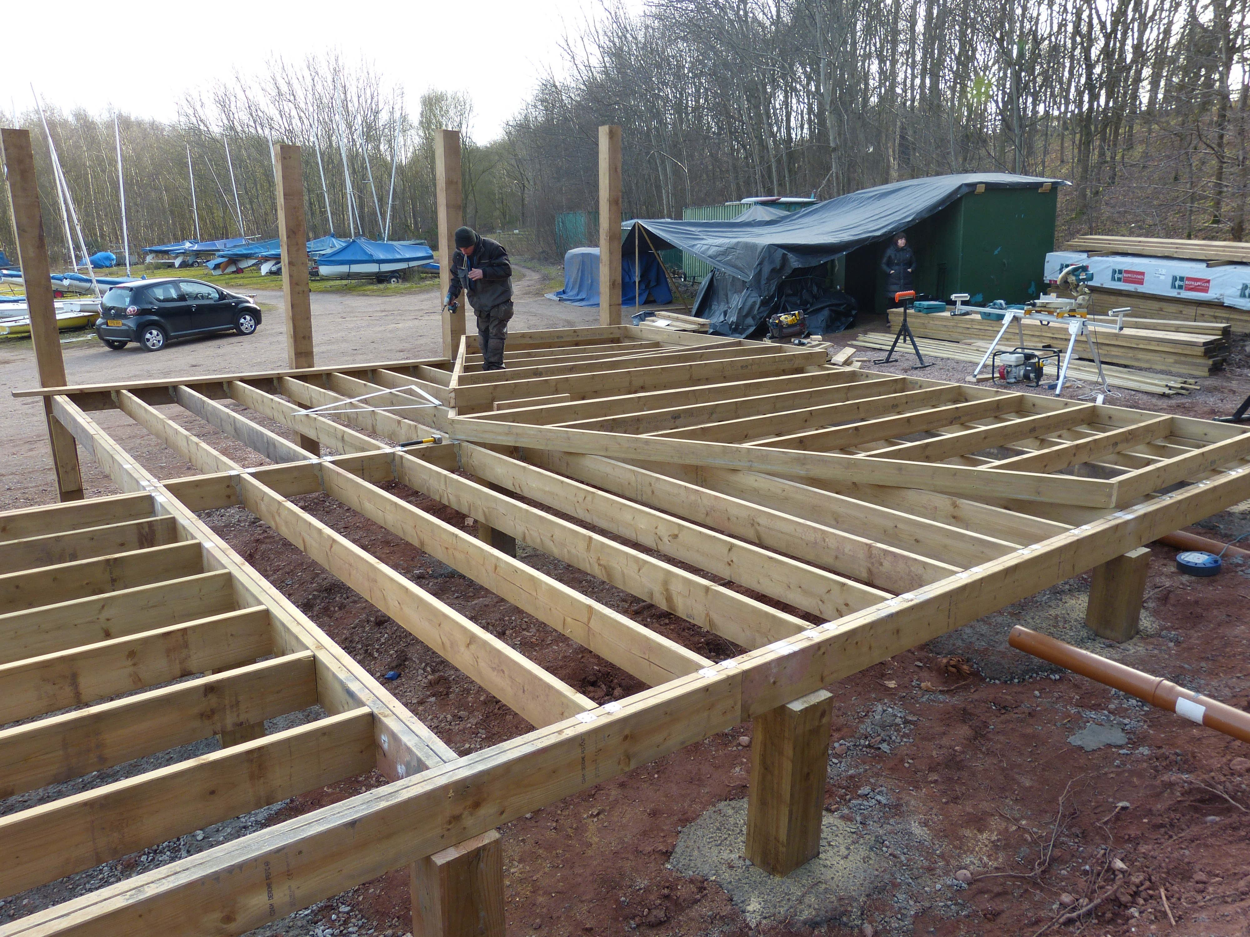 Construction week 2 echlo for Floor joist construction